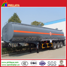 Tri-Axle 60m3 Fuel Transport Semi Tank Trailer Stainless Steel